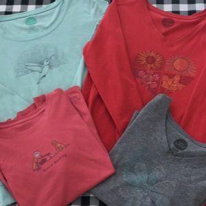 Life is good 4 shirt bundle medium